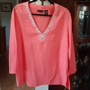 Gorgeous Coral Tunic Top